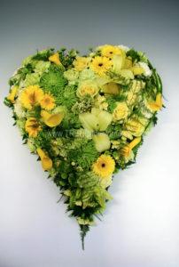 Fyllt hjärta gul lime