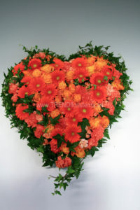 Fyllt hjärta orange