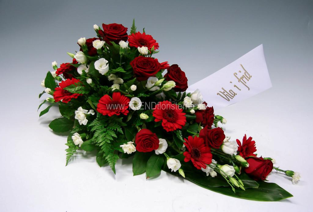 röd vit låg dekoration