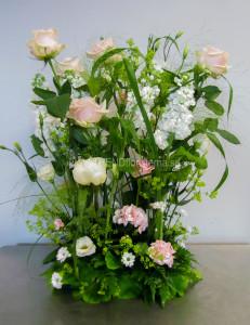 rosa vit hög rak dekoration