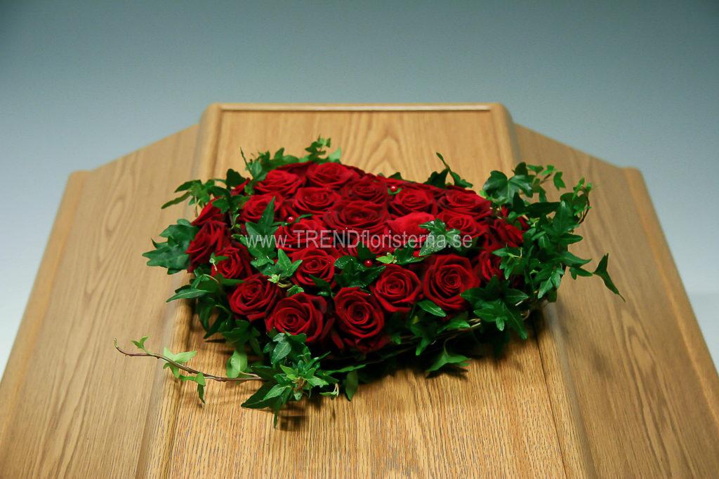 hjärta röda rosor