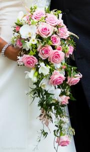 Rosa vit bukett