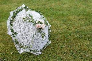 Paraply ljusrosa närbild