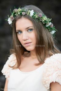 Hårkrans. Modell Antonia Stevanovic