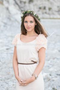 Hårkrans. Modell Antonija Stevanovic. Fotograf Elin Stahre.