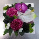 Art Deco bord, vitt lila