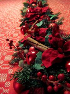 Art Deco bordsgirlang röd jul