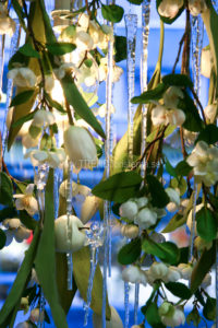Detalj av blomsterlampa