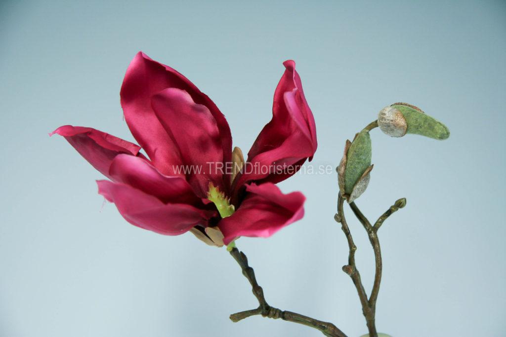 Art Deco magnolia cerise